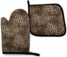 VunKo Leopard Print Oven Mitts and Pot Holders