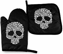 VunKo Sugar Skull Oven Mitts and Pot Holders Sets