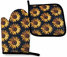 VunKo Vintage Daisy Oven Mitts and Pot Holders