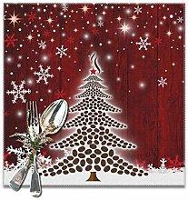 VunKo Winter Holidays Placemats Set of 6 Christmas
