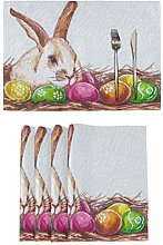 vvfelixl Easter Bunny Colored Eggs Nest Set of 6