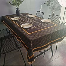 vvff Black Gold Tablecloth Hotel Wedding Party