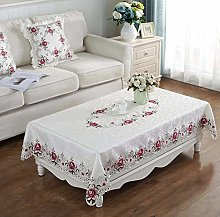 vvff Proud Rose Embroidery Table Cloth Square