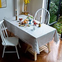 vvff Striped Tablecloth Square Tablecloth Suitable