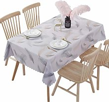 vvff Transparent Tablecloth Feather Waterproof