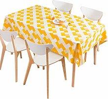 vvff Waterproof Oilproof Tablecloth Geometric