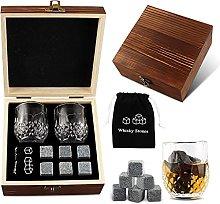 VVXXMO Whiskey Glass Set with 6 Pcs Whiskey