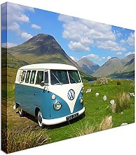 VW Camper Van 12x16 inches   Canvas Art Cheap Wall