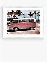 VW Camper Van - Framed Print & Mount, 66 x 86cm,