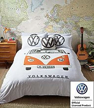 VW Official Bedding - Orange Campervan Duvet Cover