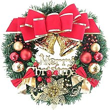 VWJFHIS Artificial Christmas Hanging Wreath Front