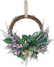 VWJFHIS Artificial Lavender Wreath Front Door
