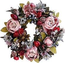 VWJFHIS Artificial Wreath Peony Wreath Paper