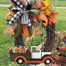 VWJFHIS Car Wreath Halloween Farmhouse Pumpkin Car
