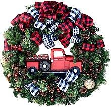 VWJFHIS Paper Flower Wreath Creative Christmas
