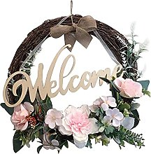 VWJFHIS Paper Flower Wreath Farmhouse Wedding