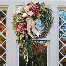 VWJFHIS Pink Hydrangea Wreath Door Party Wedding