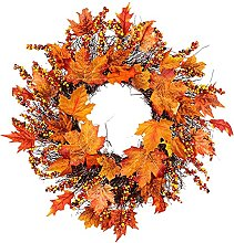 VWJFHIS Simulation Maple Leaf Wreath Artificial