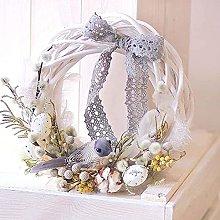 VWJFHIS Window Wicker Wreath Decoration Christmas