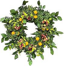 VWJFHIS Wreath 40Cm Artificial Green Eucalyptus