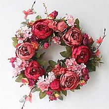 VWJFHIS Wreath Farmhouse Wedding Wreath Rattan