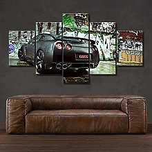 VYQDTNR - 5 Panel Art Wall Art Cool Car Graffiti