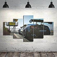 VYQDTNR - 5 Panel Art Wall Art Sports Car Cool