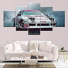 VYQDTNR - Large 5 Pieces Frameless Canvas Art Cool