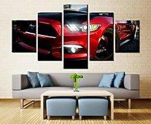 VYQDTNR - Large 5 Pieces Frameless Canvas Art Ford