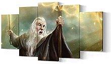 VYQDTNR - Large 5 Pieces Frameless Canvas Art