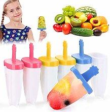 VZATT Ice Lolly Moulds, Popsicle Molds Set, 6 PCs