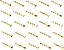 W/SCREW BRASS RAISED HEAD SELF COLOUR (Pack of 25)