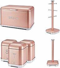 w Tower Glamorous Kitchen Set - PINK GLITZ Bread