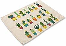 W.Z.H.H.H Table Mats 1Pcs Cactus Pattern Placemat