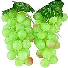 WADY 2pc Deco Plastic Fake Grapes Wine Grapes