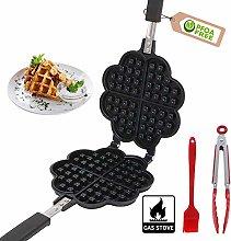 Waffle Irons Non-Stick,Cast Iron Waffle