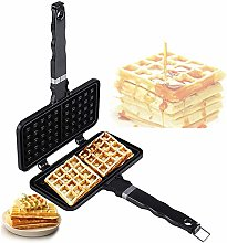 Waffle Maker, Aluminum Belgian Waffle Maker,