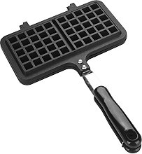 Waffle Maker Pan with Handle for Stovetop Dual