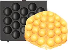 Waffle Plates 14*14cm Black Style B for Waffle