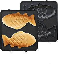 Waffle Plates 14*14cm Black Style F for Waffle
