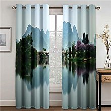WAFJJ Blackout Curtains for BedroomLakes &