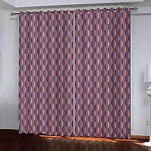 WAFJJ Blackout Curtains for BedroomPink & Pattern