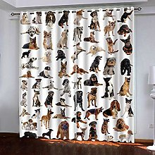 WAFJJ Curtain for Girls Animals & Dogs Bedroom