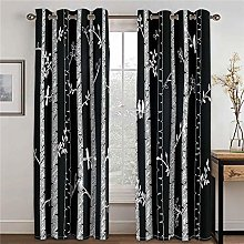 WAFJJ Curtain for Girls Black & White & Pattern