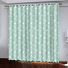 WAFJJ Curtain for Girls Blue&Arrow Bedroom
