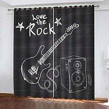 WAFJJ Curtain for Girls Cartoon&Music Bedroom