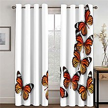 WAFJJ Curtain for Girls Color & Butterfly Bedroom