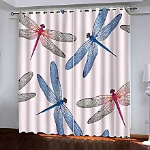 WAFJJ Curtain for Girls Color & Dragonfly Bedroom