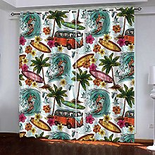 WAFJJ Curtain for Girls Color & Surf Bedroom