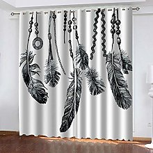 WAFJJ Curtain for Girls Feather & Dream Catcher